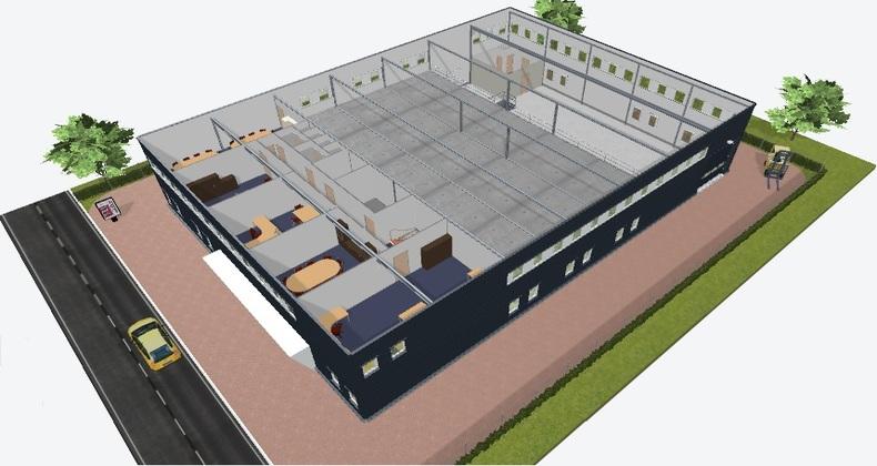 projekt hali magazynowej ipsilonv4