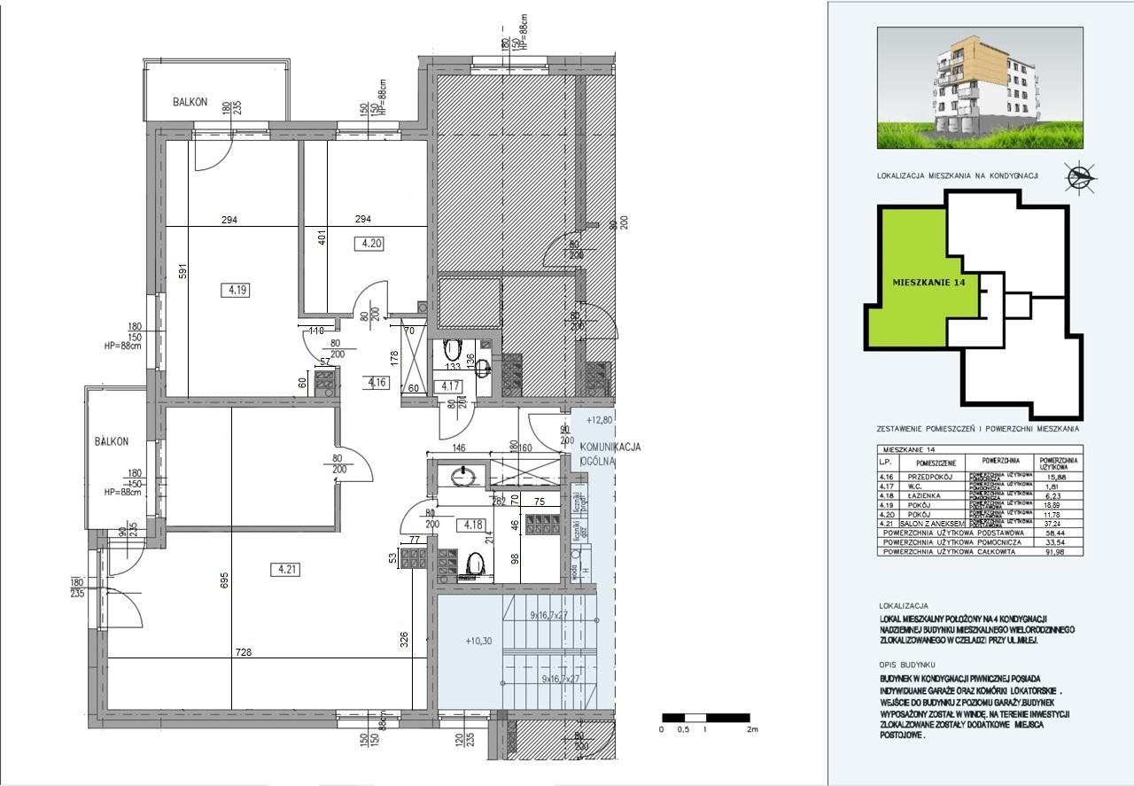 Budynek A  mieszkanie nr 14