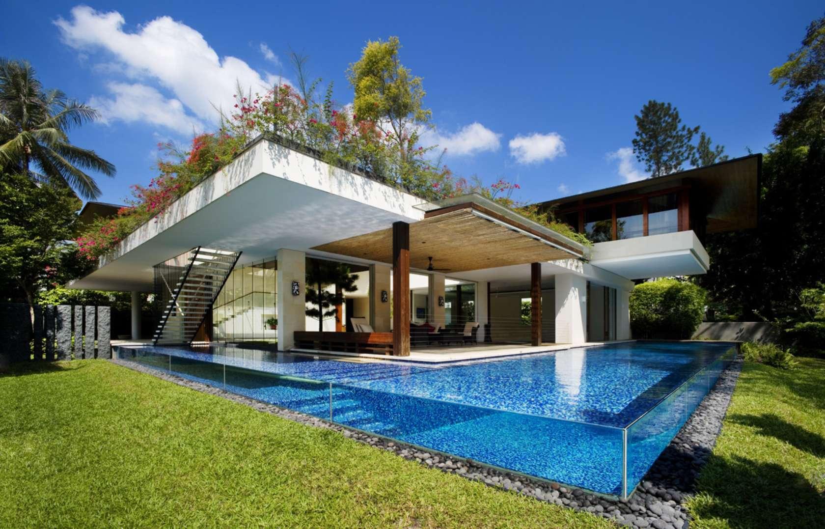Budowa projekt rezydencji domu z basenem