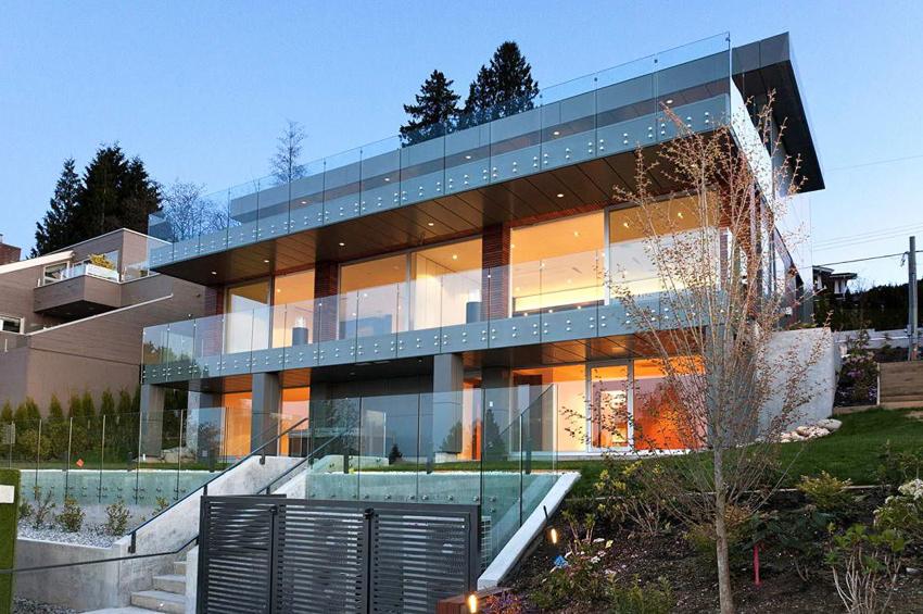 dom panoramiczne okna