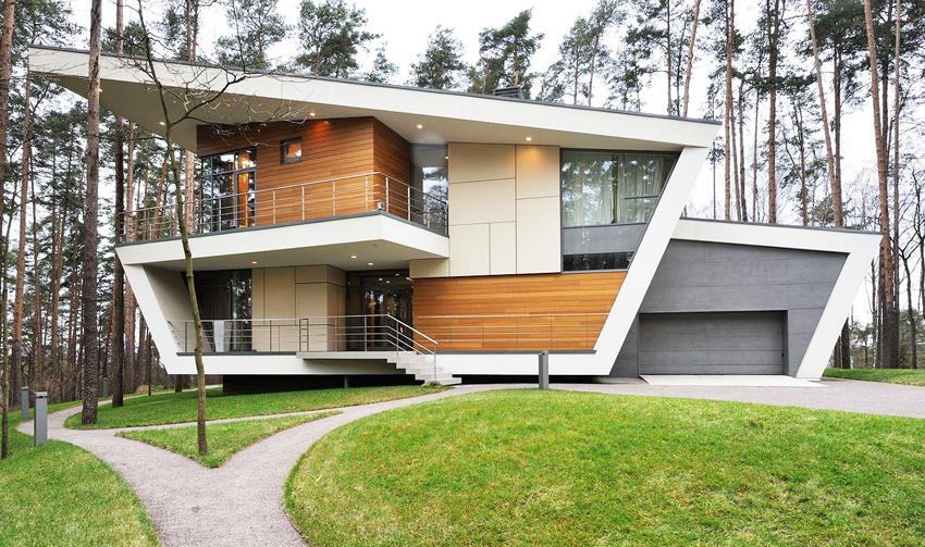 drewno w nowoczesnych domach